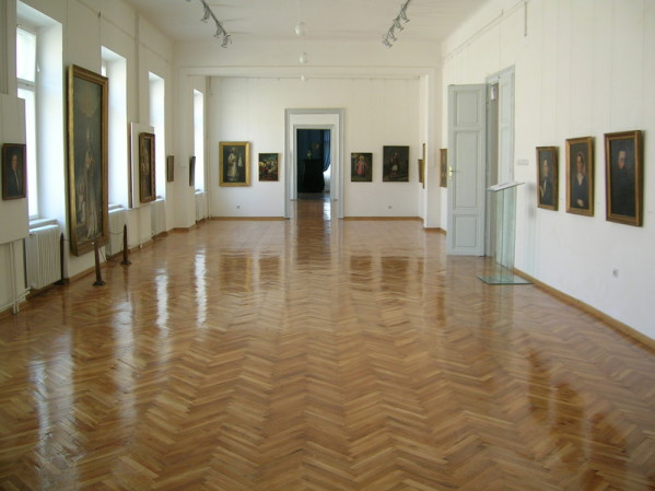 Restored commercial wood floor